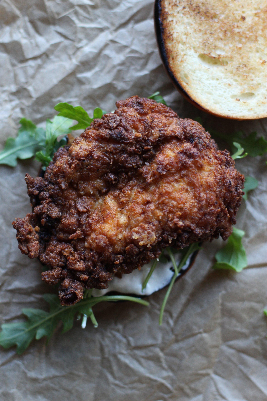 Fried chicken on brioche