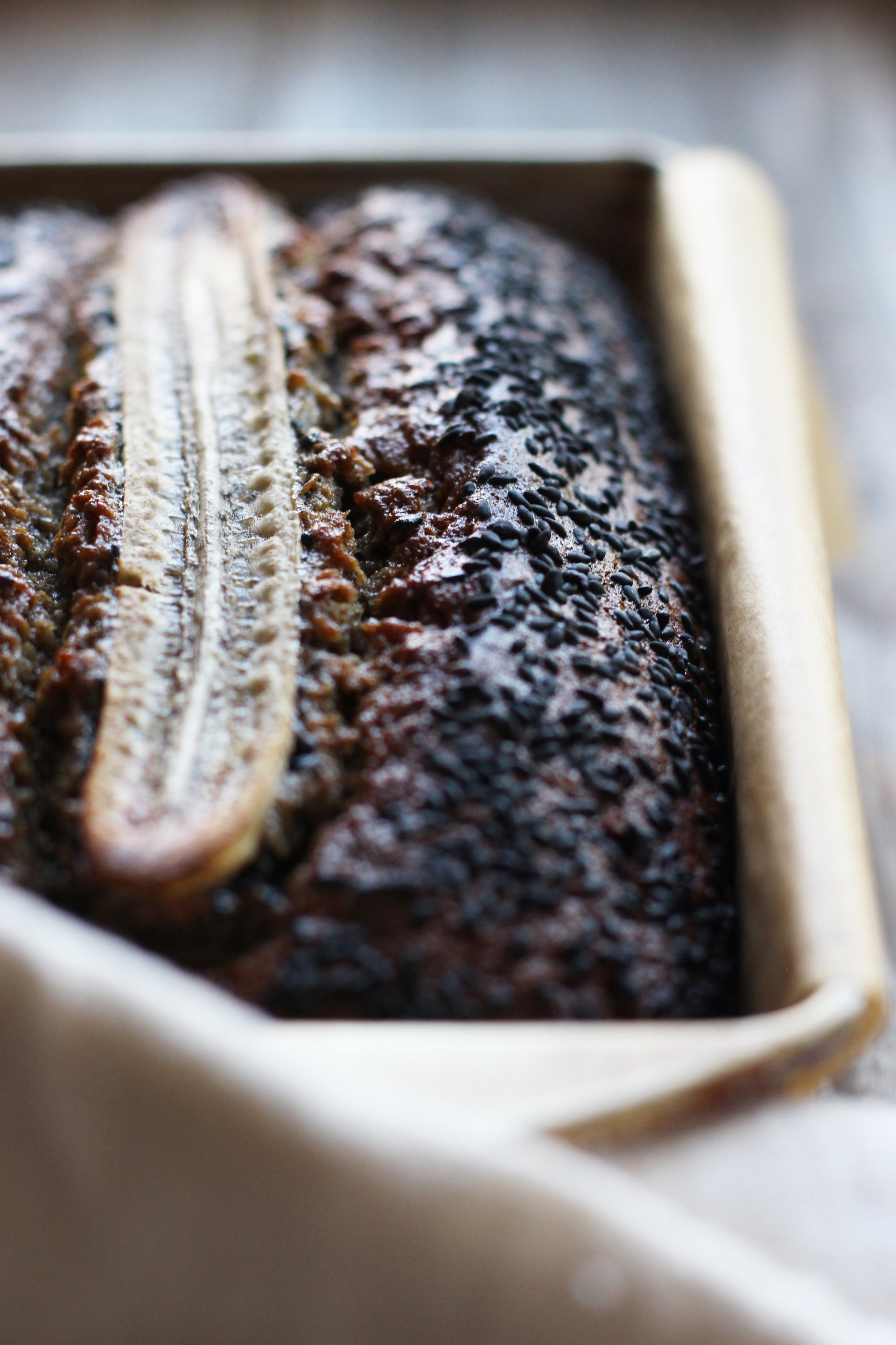 Banana black sesame bread | HonestlyYUM