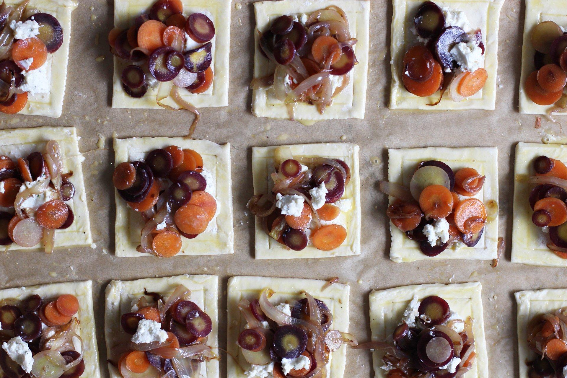 Carrot tarts