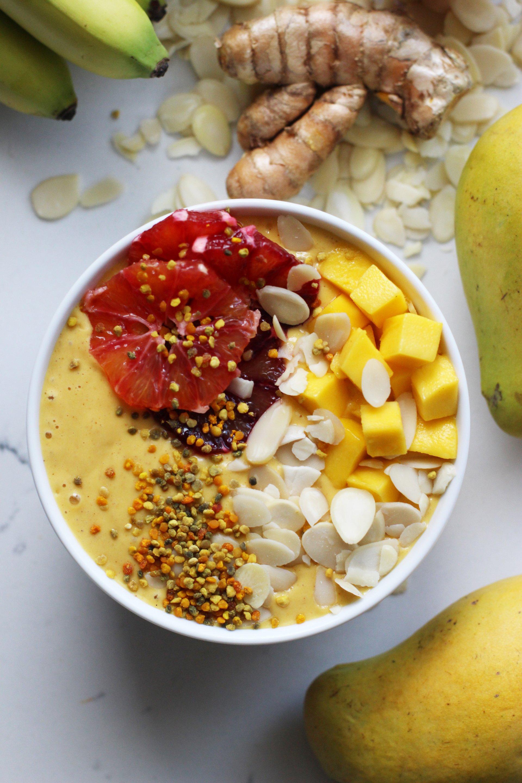 Turmeric Mango Smoothie | HonestlyYUM