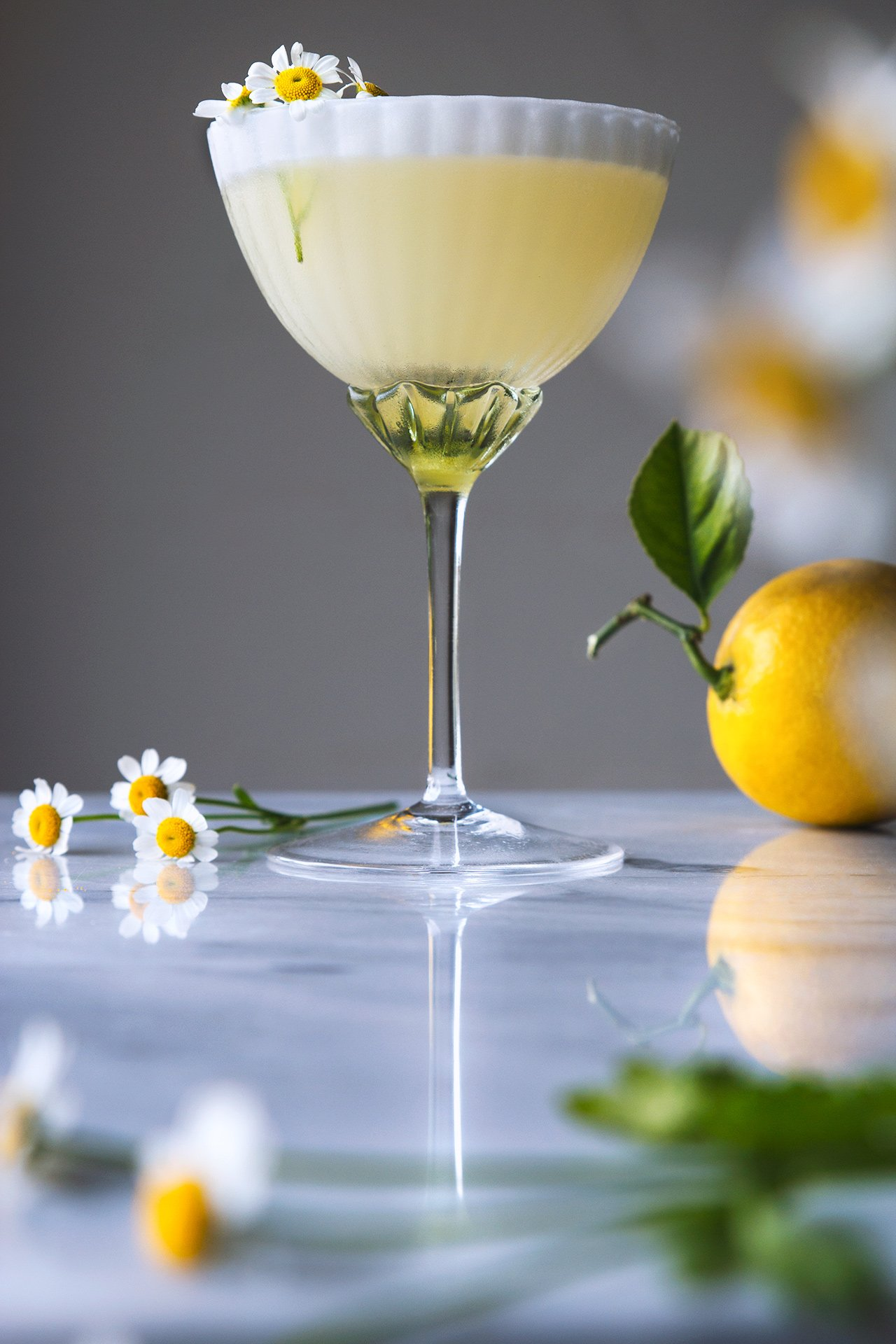 Lemon Chamomile Spring Cocktail | HonestlyYUM (honestlyyum.com)