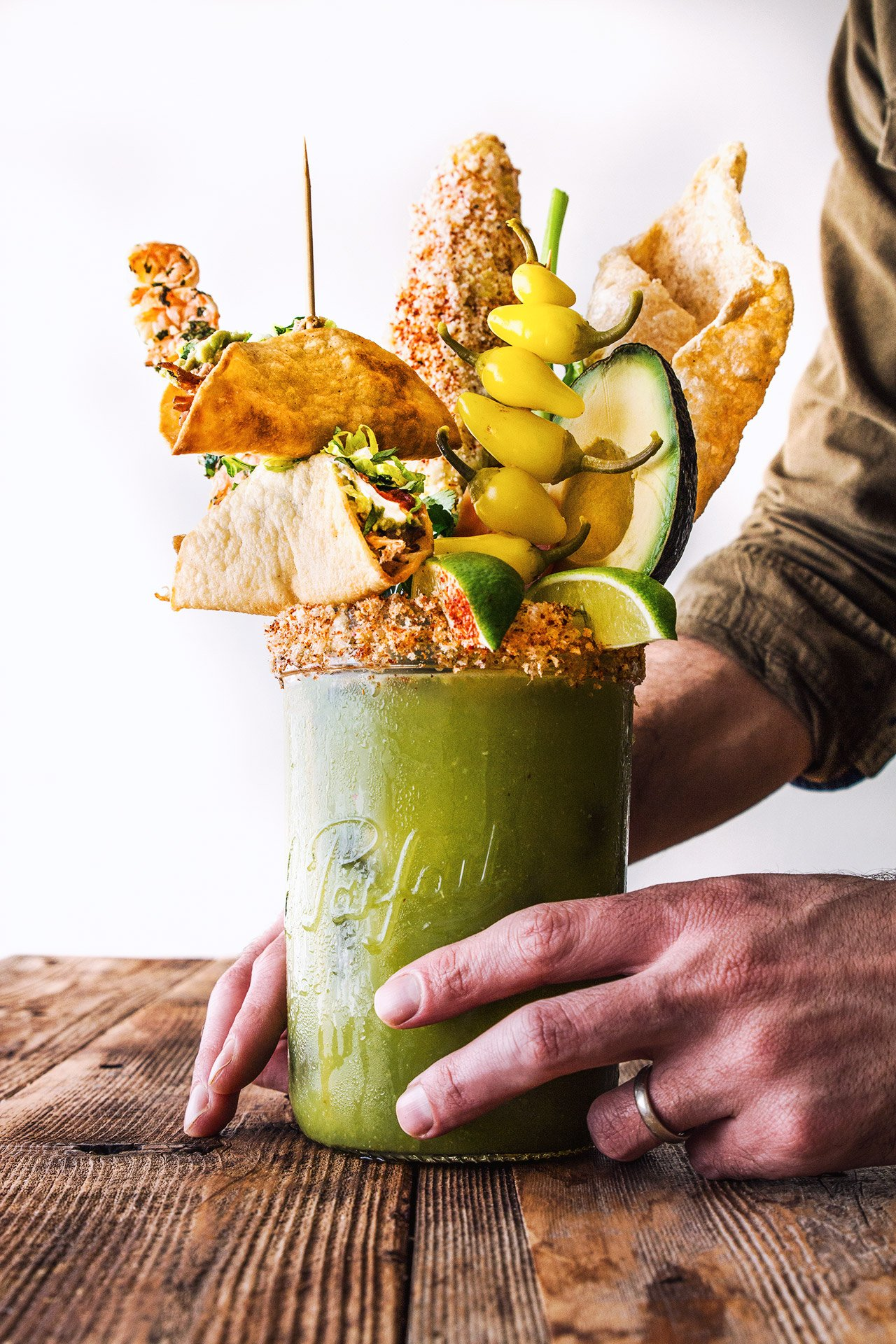 Green Monster Bloody Mary by @HonestlyYUM (honestlyyum.com)