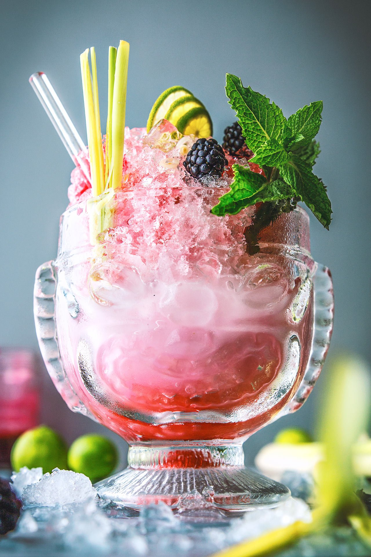 Lemongrass, Coconut, and Blackberry Cocktail | @HonestlyYUM | honestlyyum.com