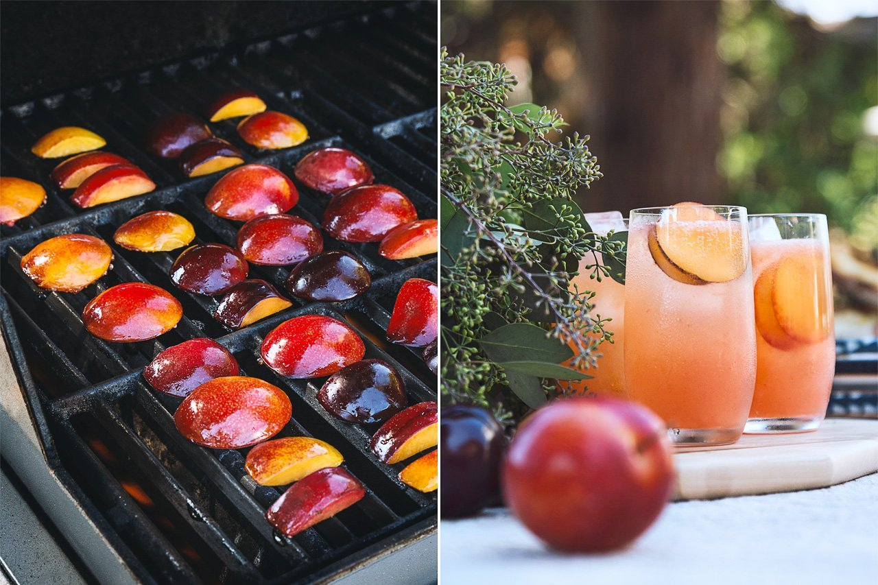 Grilled Pluot Cocktail Recipe by HonestlyYUM (honestlyyum.com) w/ @Hangar1Vodka