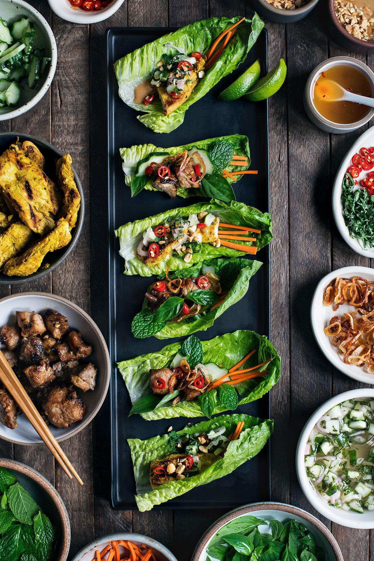 Chicken Satay Lettuce Wraps | HonestlyYUM (honestlyyum.com)