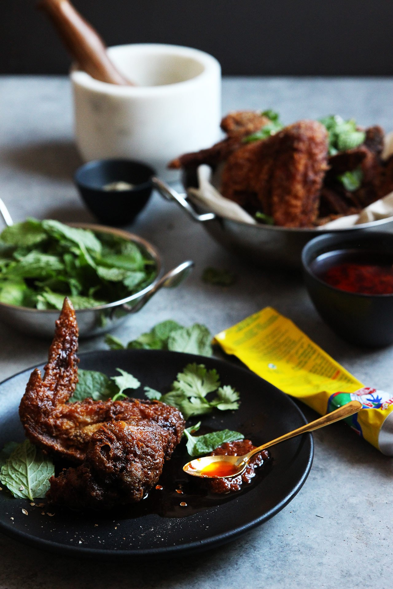 harissa chicken wings ingredients 2 pounds of chicken wings 3 cups of ...