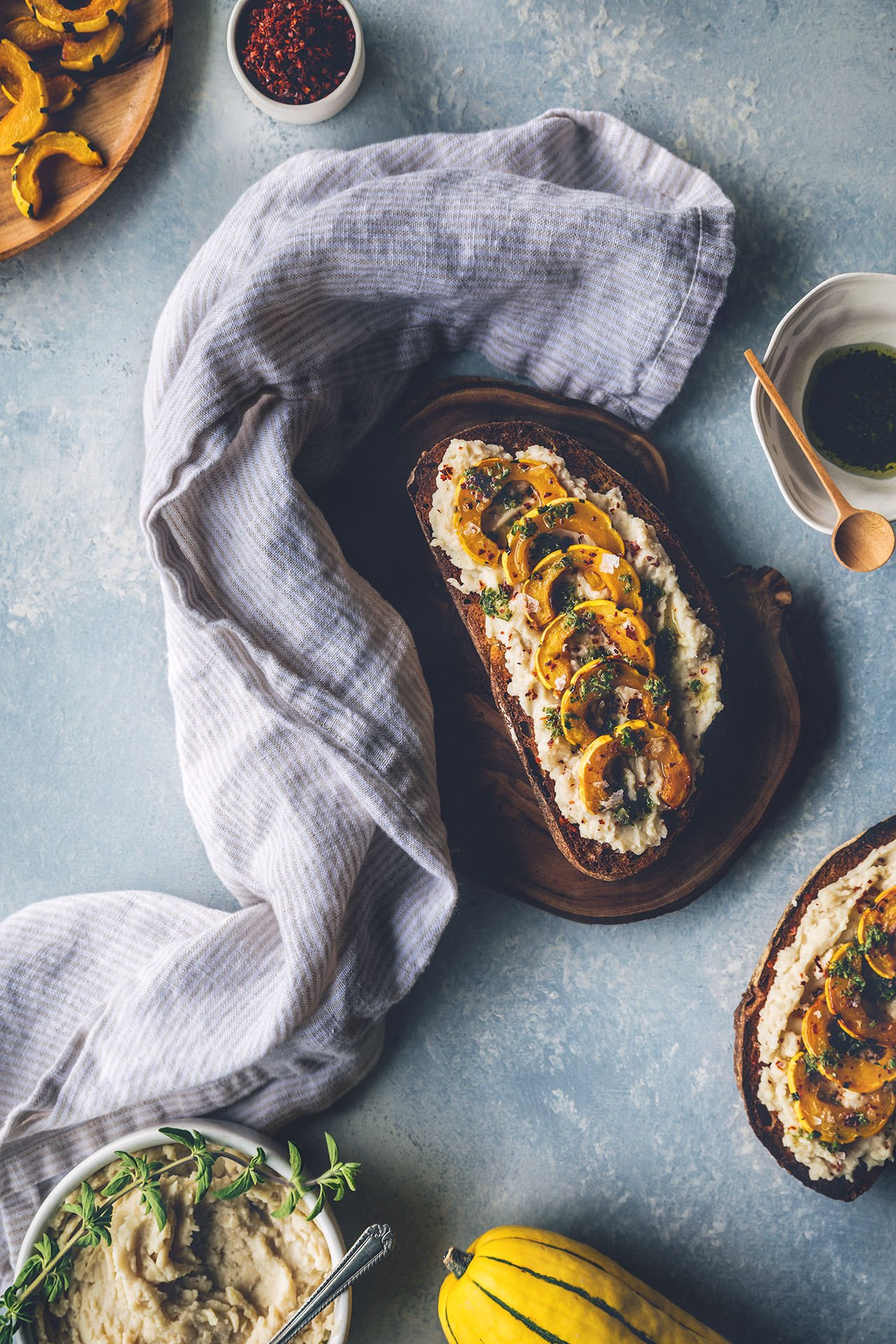 Butter Bean & Roasted Delicata Squash Tartines | HonestlyYUM (honestlyyum.com)