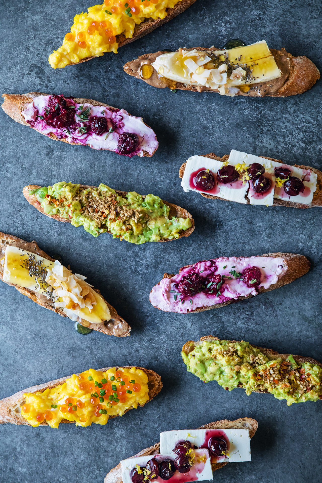 Breakfast Crostini Inspiration by HonestlyYUM