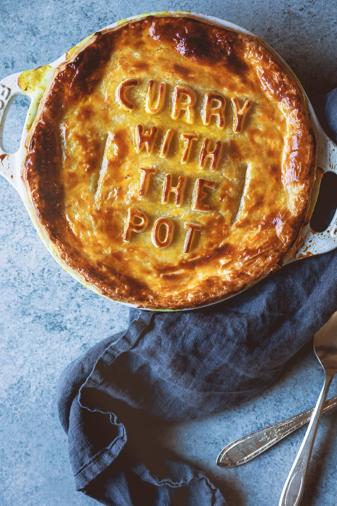 Curry Chicken Pot Pie | HonestlyYUM
