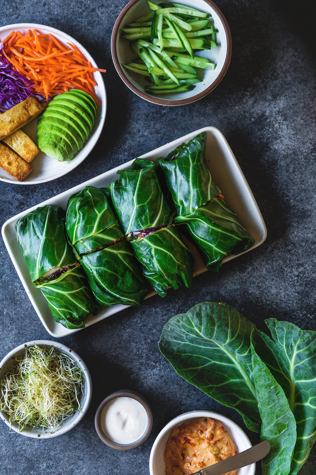 Collard Green Wraps | HonestlyYUM (honestlyyum.com)