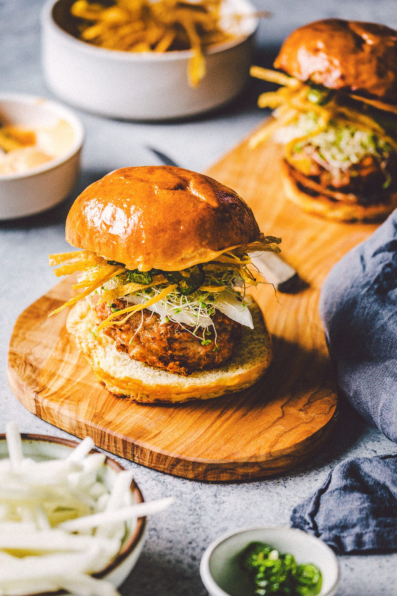 Chicken Burgers with Jicama and Candied Jalapeños | HonestlyYUM (honestlyyum.com)
