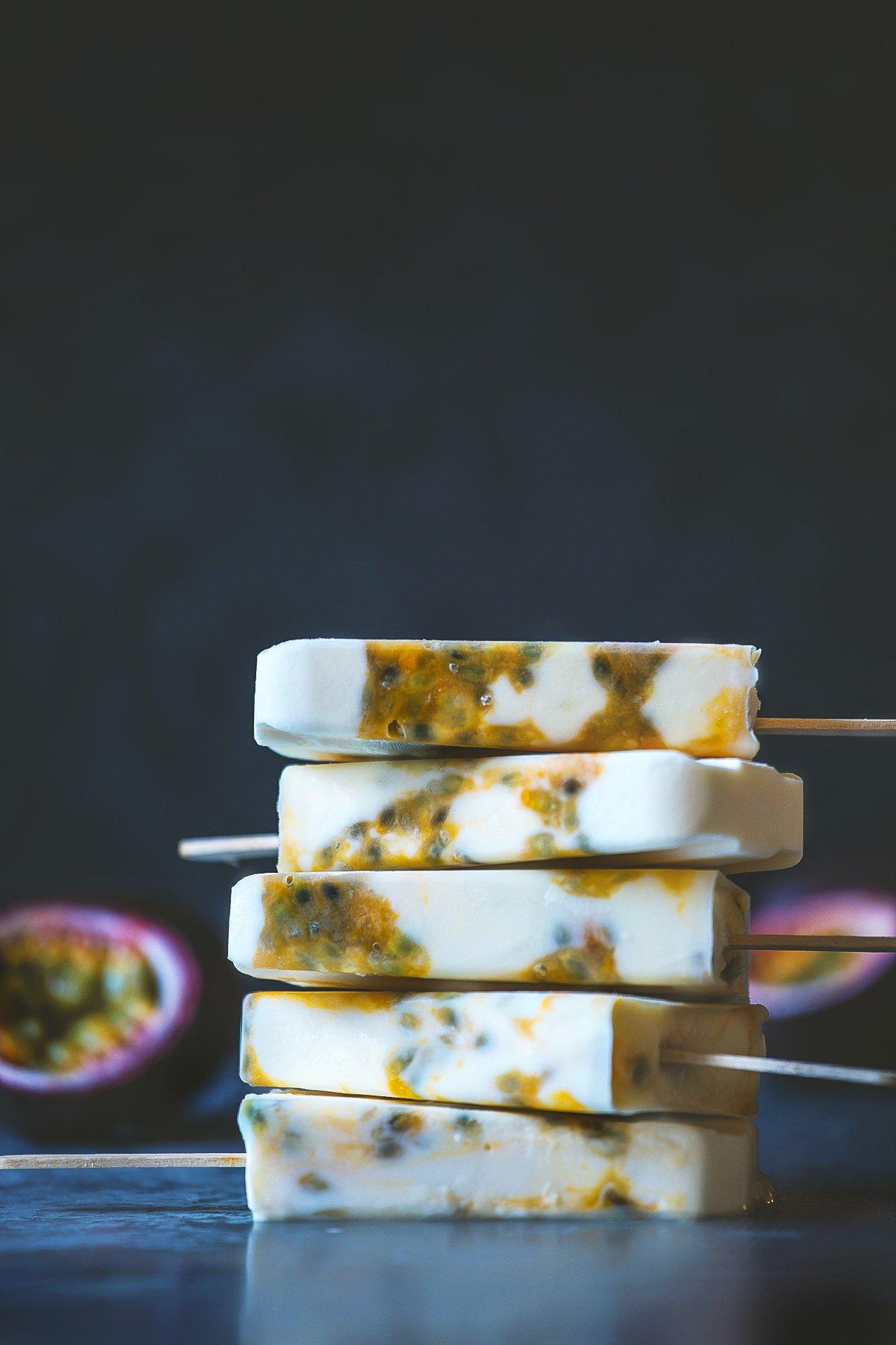 Passionfruit Yogurt Popsicles by HonestlyYUM