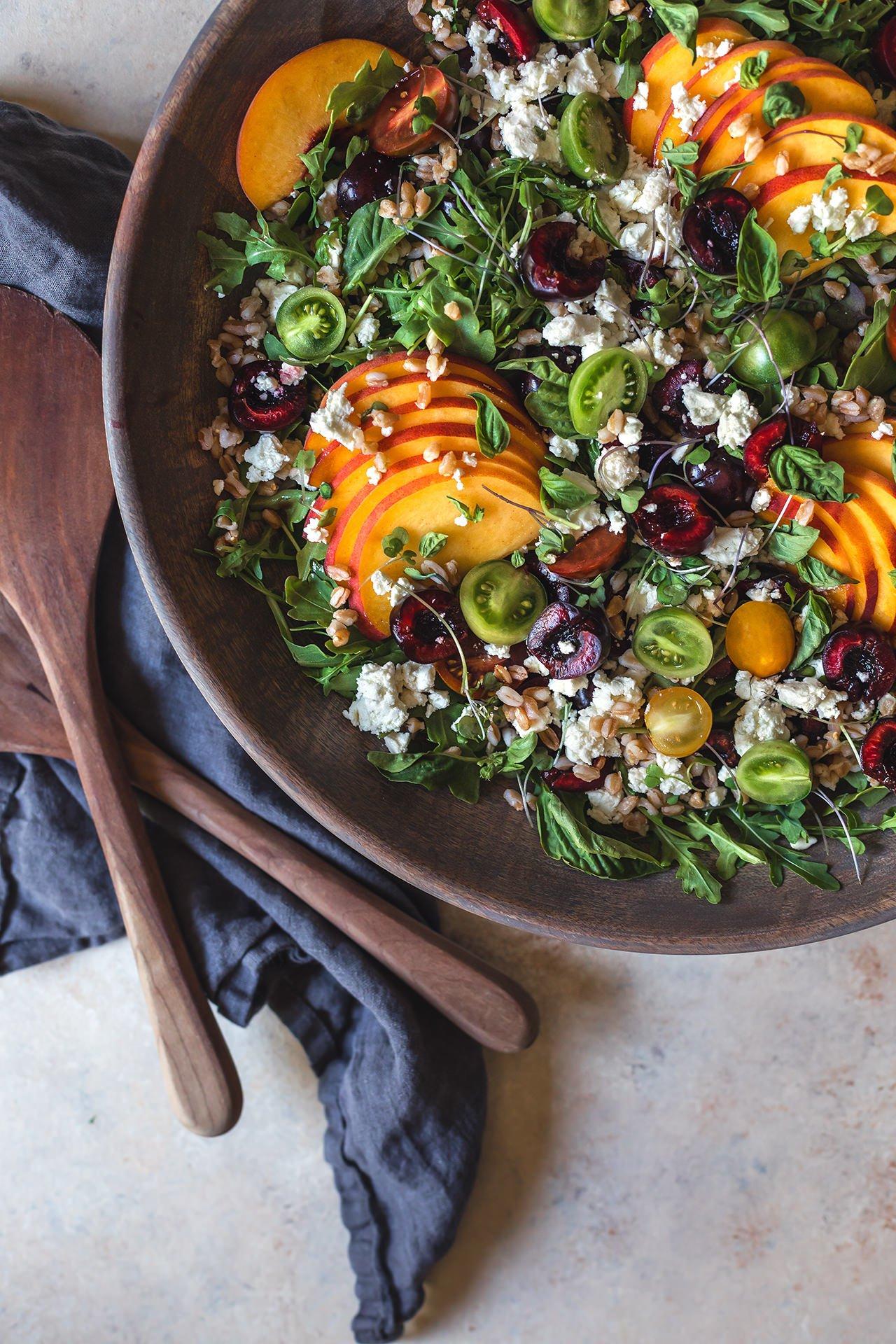 Stone Fruit Salad Honestlyyum