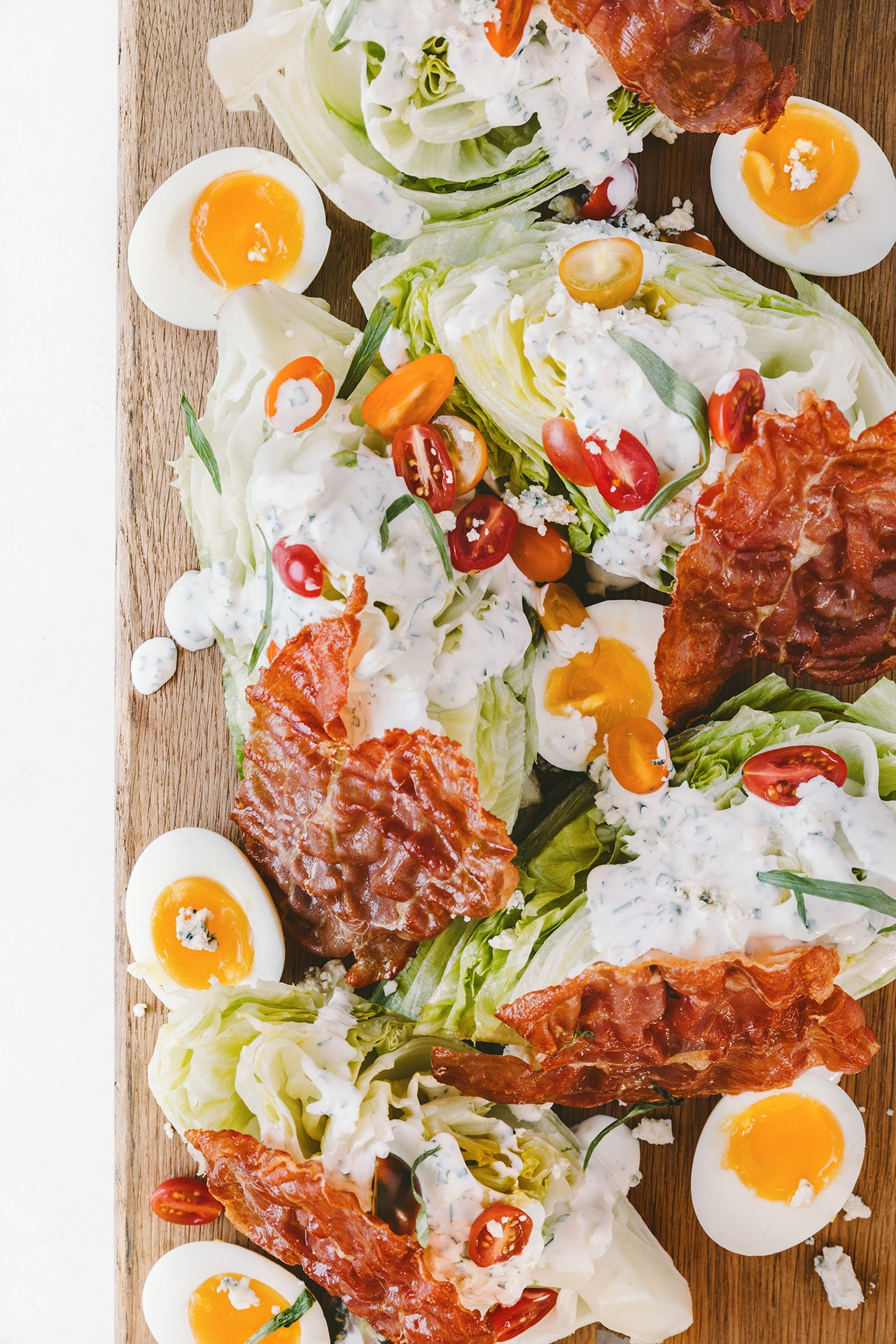 Wedge Salad with Homemade Ranch | HonestlyYUM (honestlyyum.com)