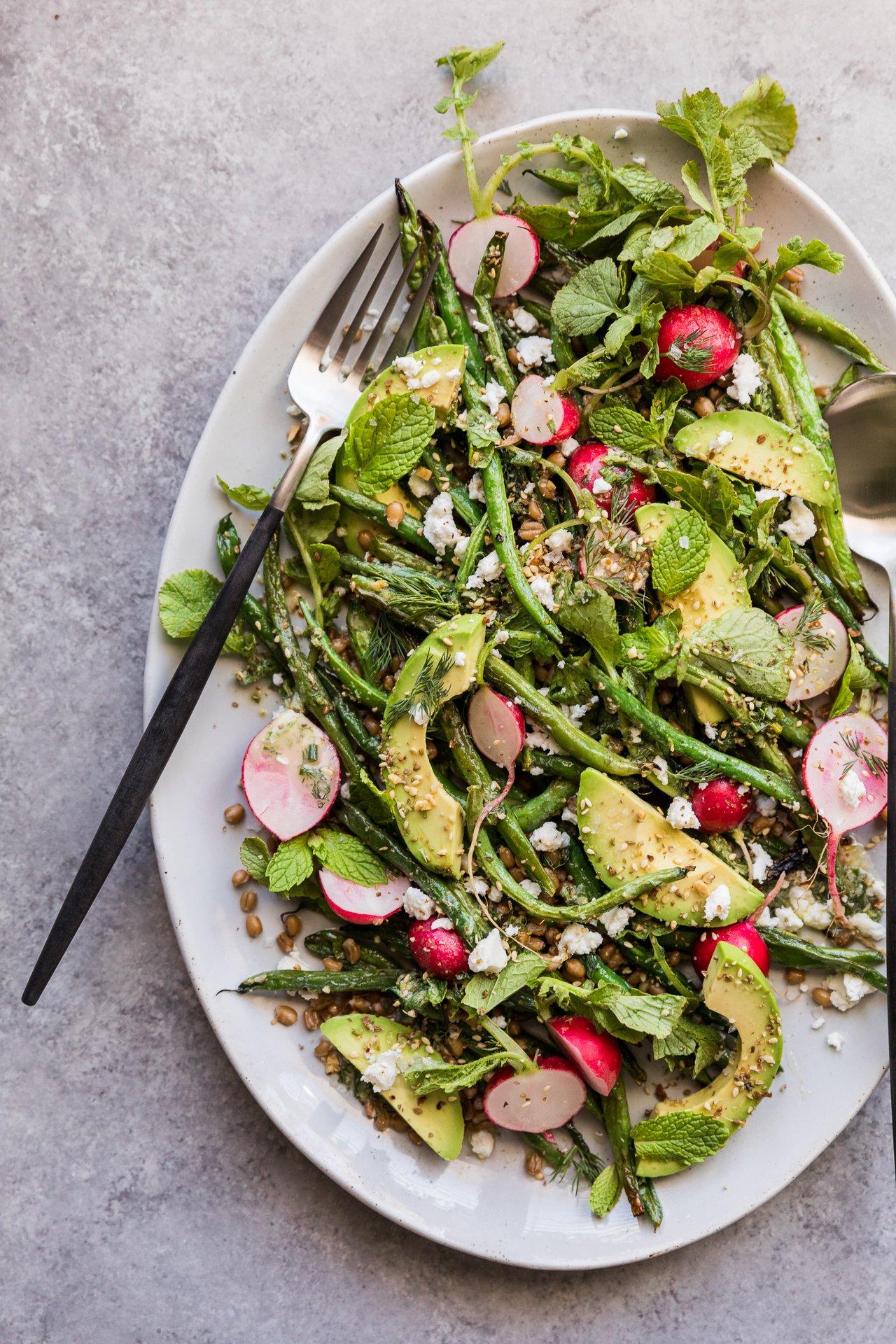 Grilled Green Bean Salad   HonestlyYUM (honestlyyum.com)