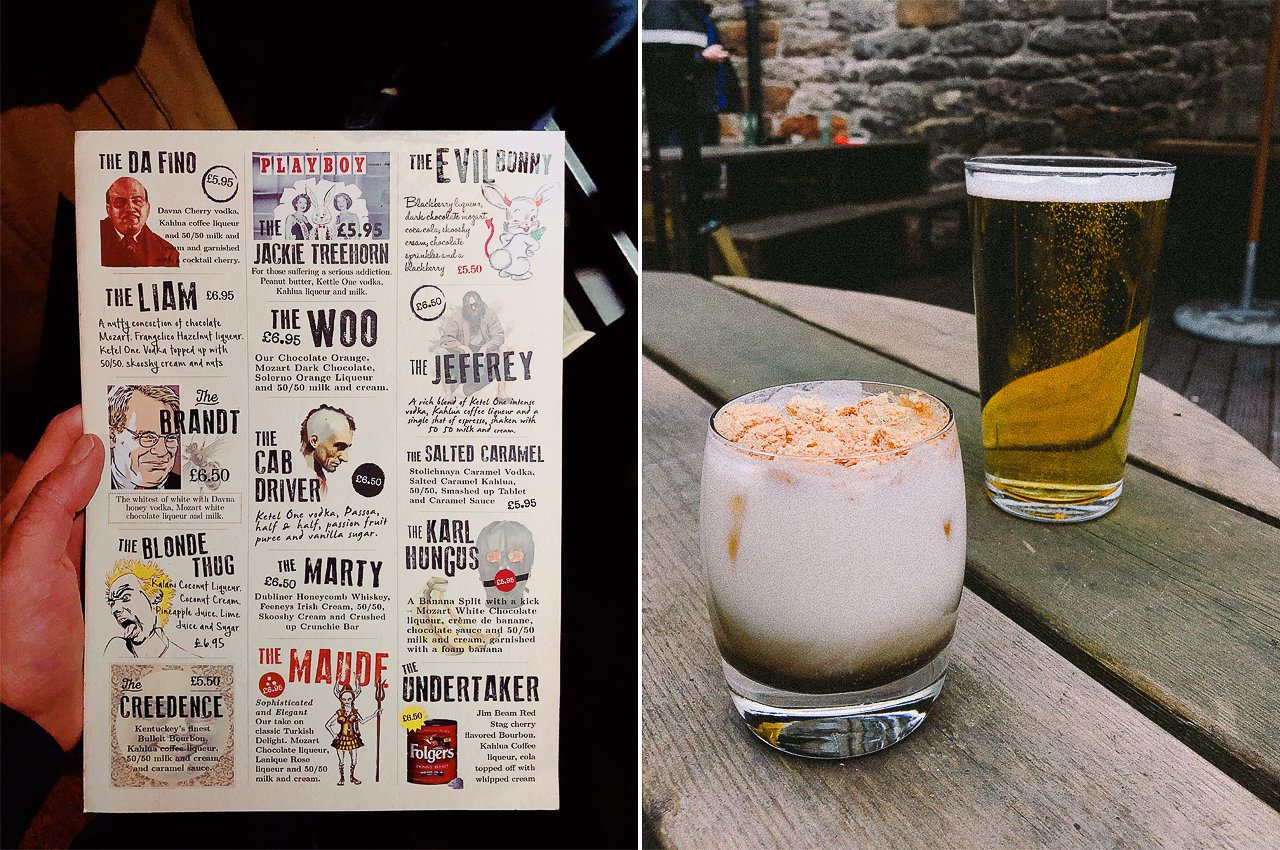 White Russians at Lebowski's | Edinburgh Travel Guide by HonestlyYUM