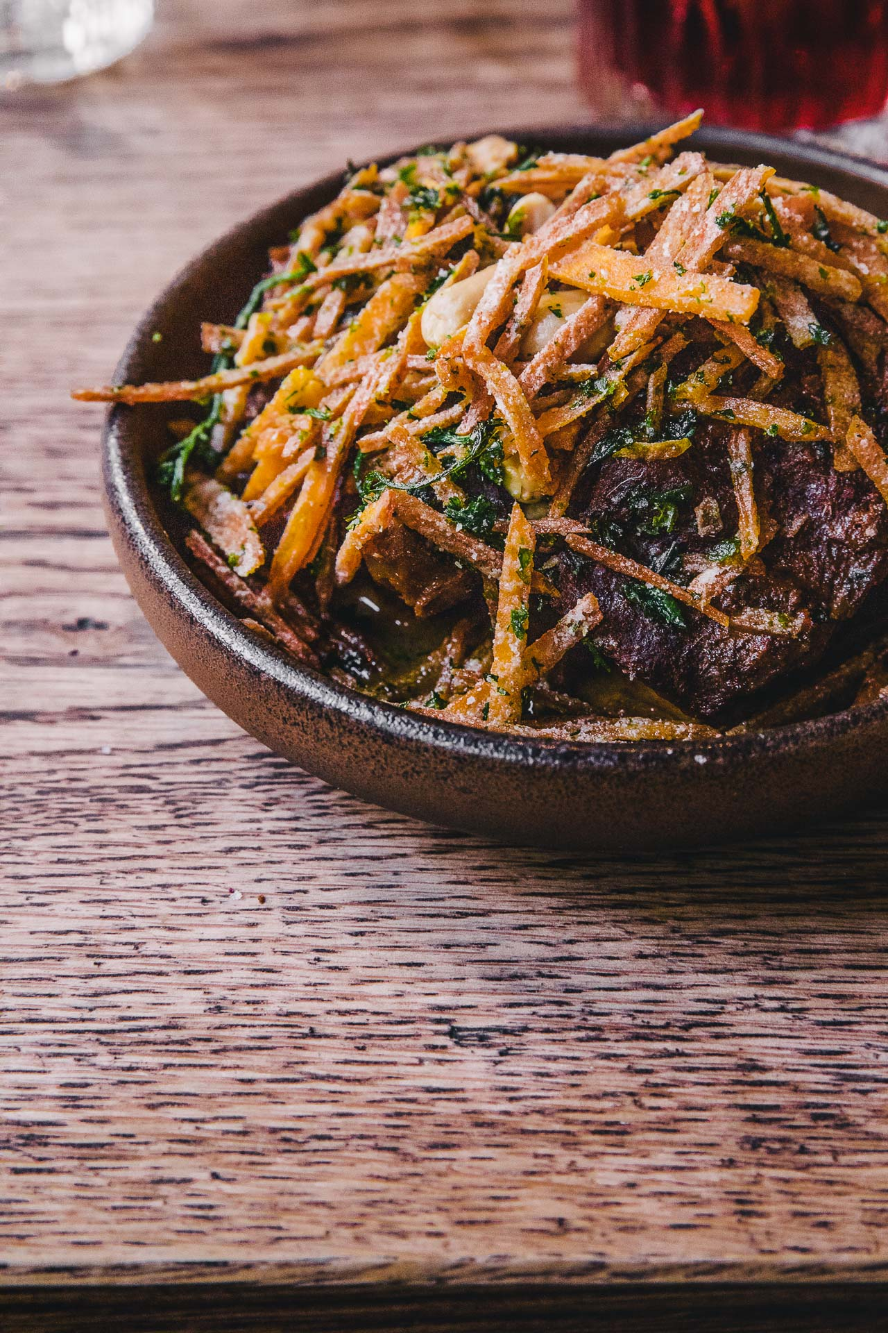 Slow-cooked ox cheek, Refuge, Manchester, England.