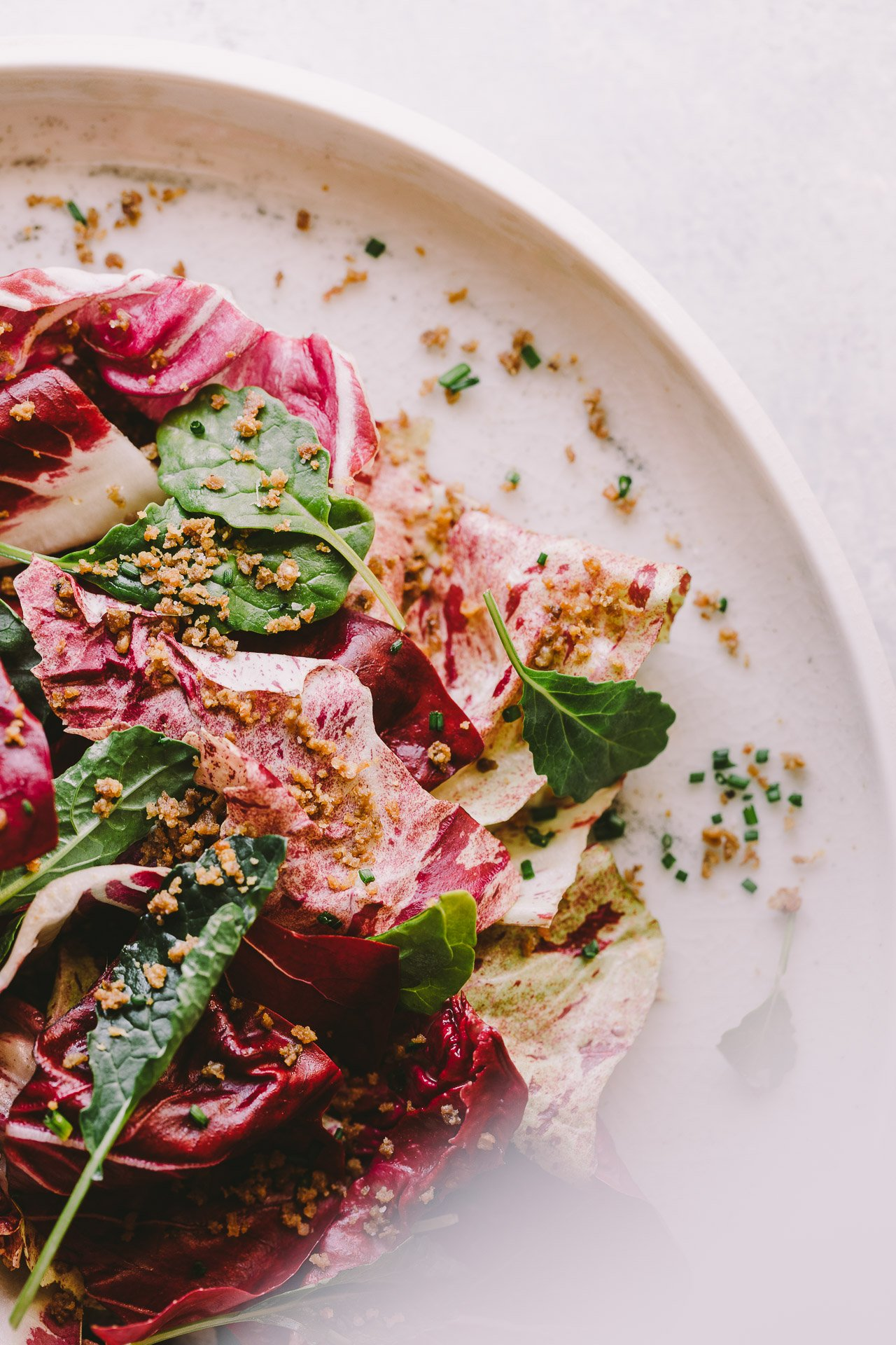 Chicories w/ Date Vinaigrette and Crispy Chicken Skin | Recipe from the Rich Table cookbook | Photography by HonestlyYUM