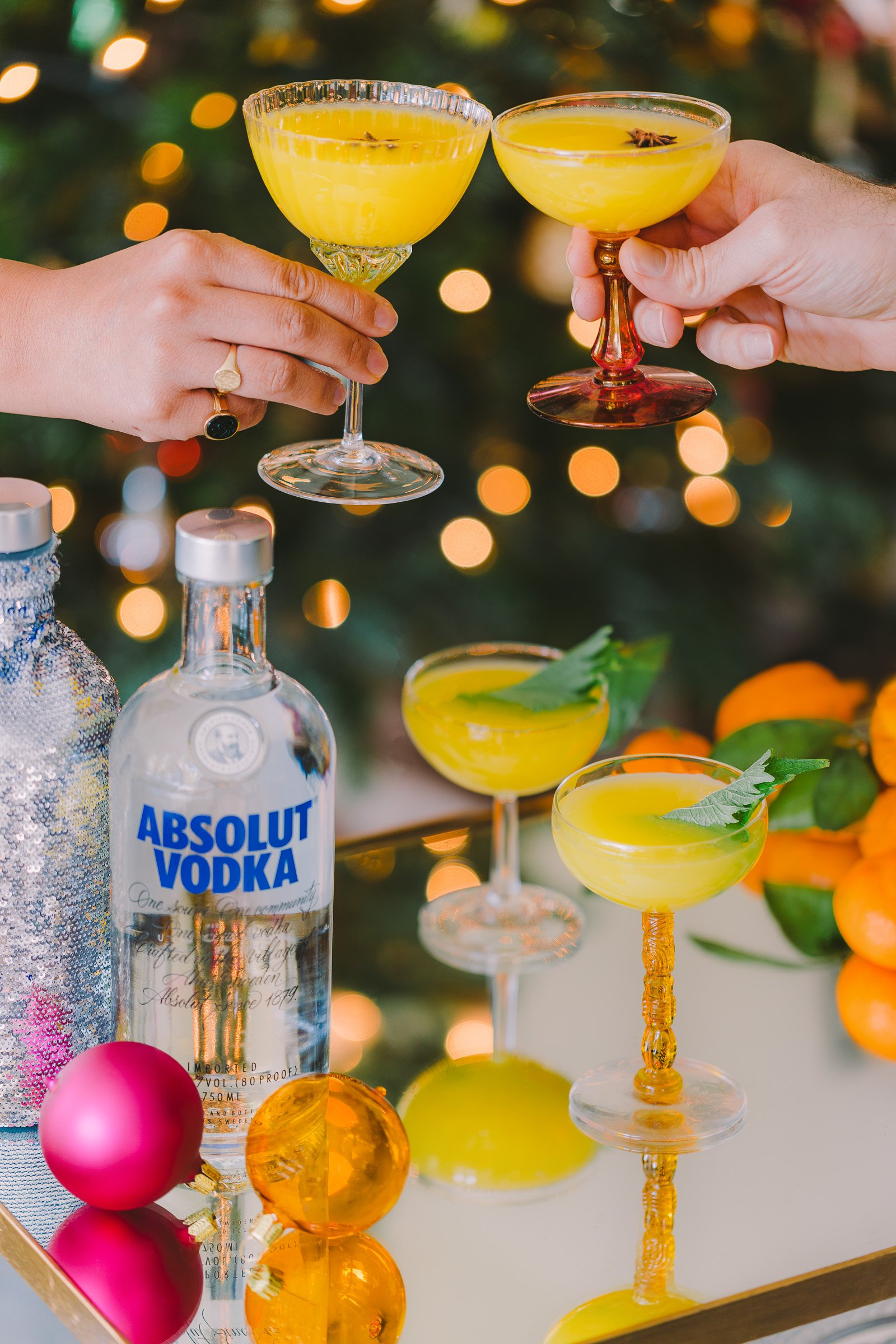 Mandarin Shiso Cocktail by HonestlyYUM